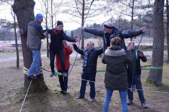 Teamtraining im Niederseilgarten